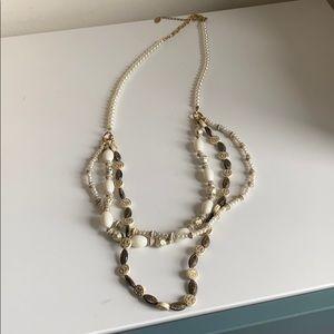 Amrita Singh nautical pearl long layered necklace